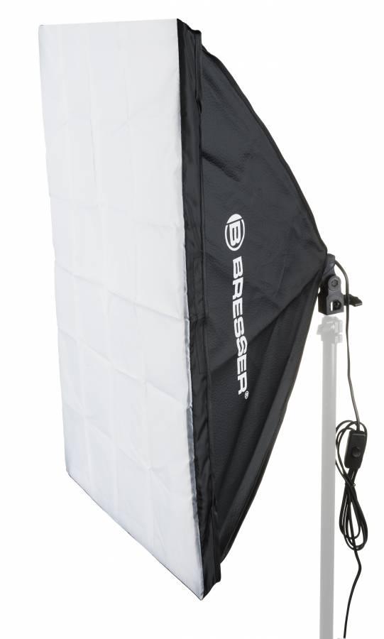 Softbox BRESSER SS-16 50x70cm + Lampadina 1x85W