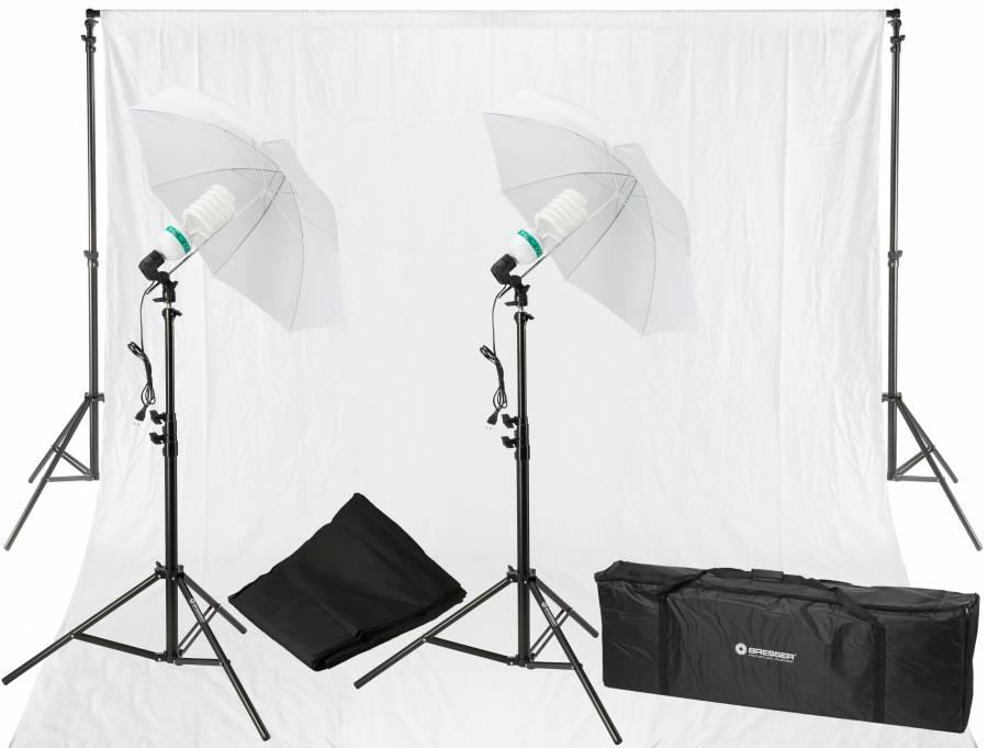 BRESSER BR-2103 Tageslicht- und Hintergrund-Set 850W