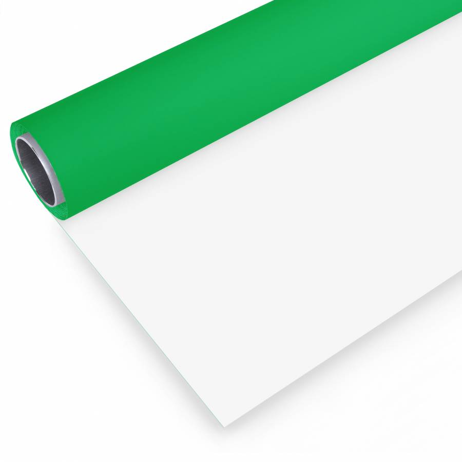 BRESSER Fond de studio vinyle en rouleau 2x3m vert/blanc