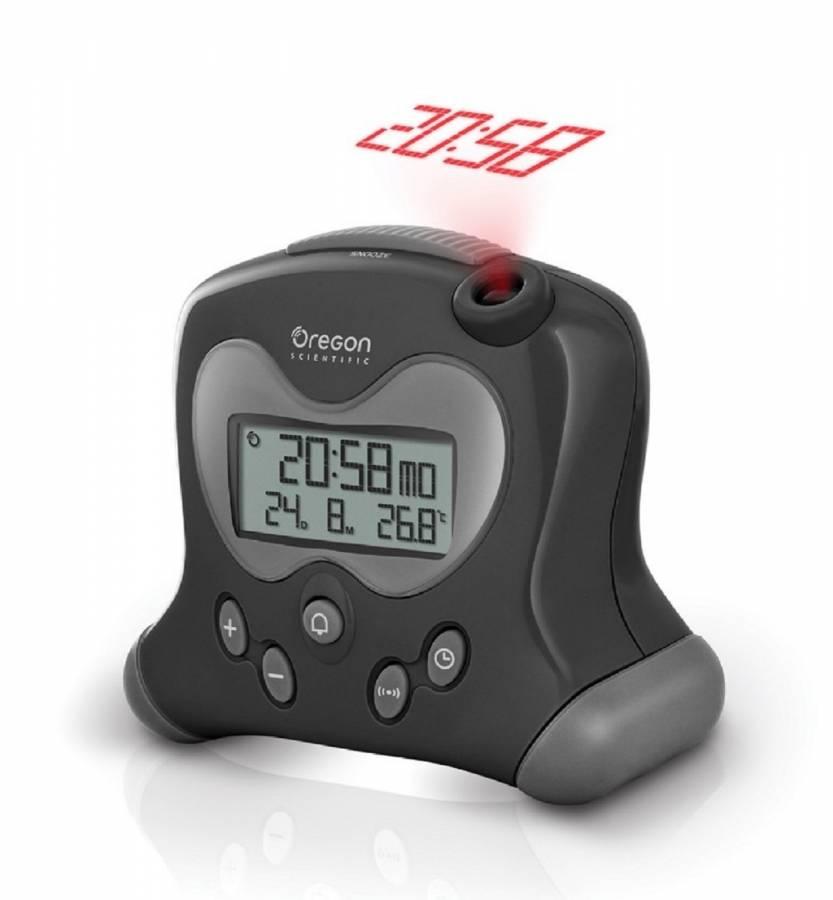 Oregon Scientific Funkwecker mit Projektionsanzeige und Innenthermometer