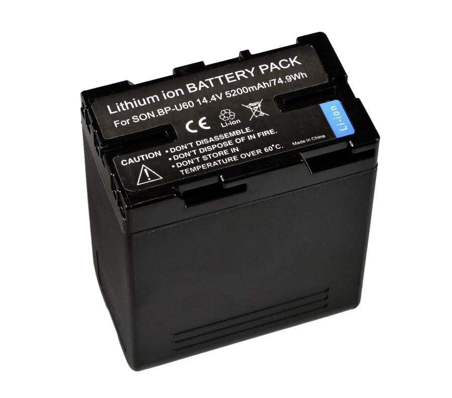BRESSER Batterie de rechange Lithium-Ion pour Sony BP-U60