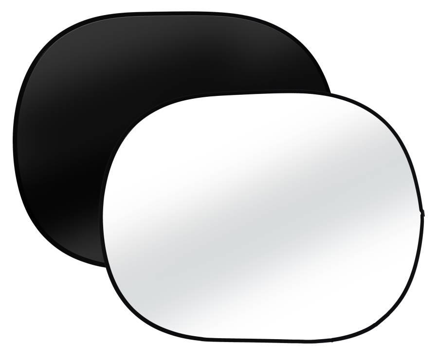 BRESSER TR-3 Fondo plegable negro/blanco de tamaño 120cmx180cm