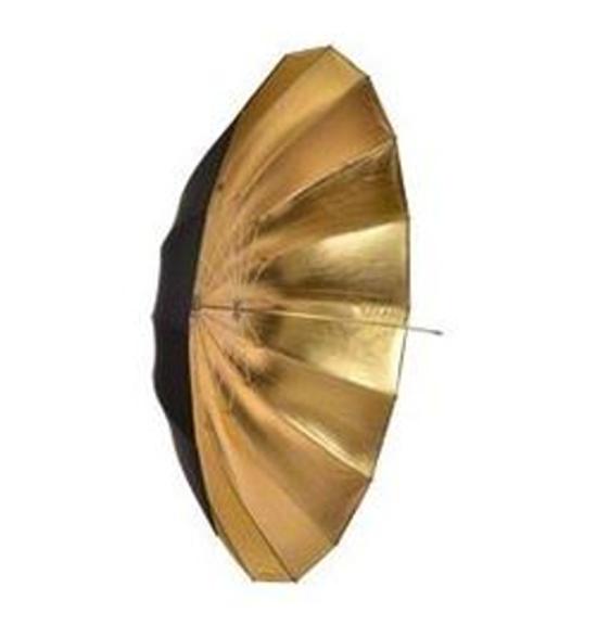 BRESSER BR-BG180 Jumbo Ombrello riflettente nero/oro 180cm
