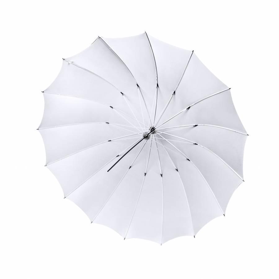 Ombrello traslucente BRESSER SM-08 extra grande 180 cm bianco