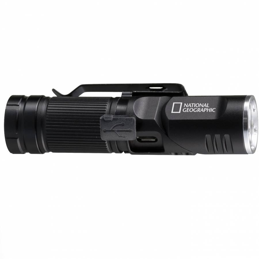 NATIONAL GEOGRAPHIC ILUMINOS 450 LED Taschenlampe mit Kopfhalterung 450 lm