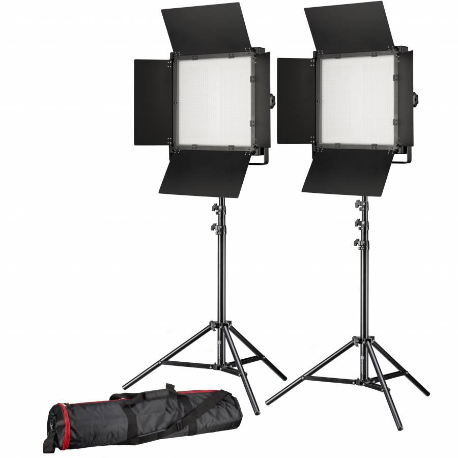 BRESSER LED Photo-Vidéo SET 2x LS-1200 72W/11.800LUX
