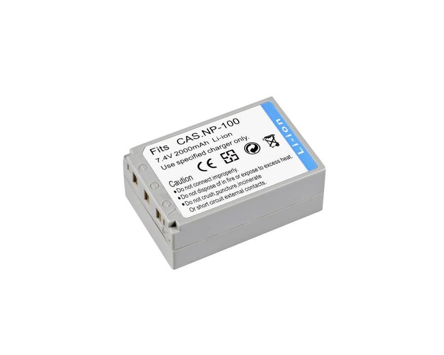 BRESSER Batteria ricaricabile agli ioni di litio / Batteria sostitutiva per Casio NP-100