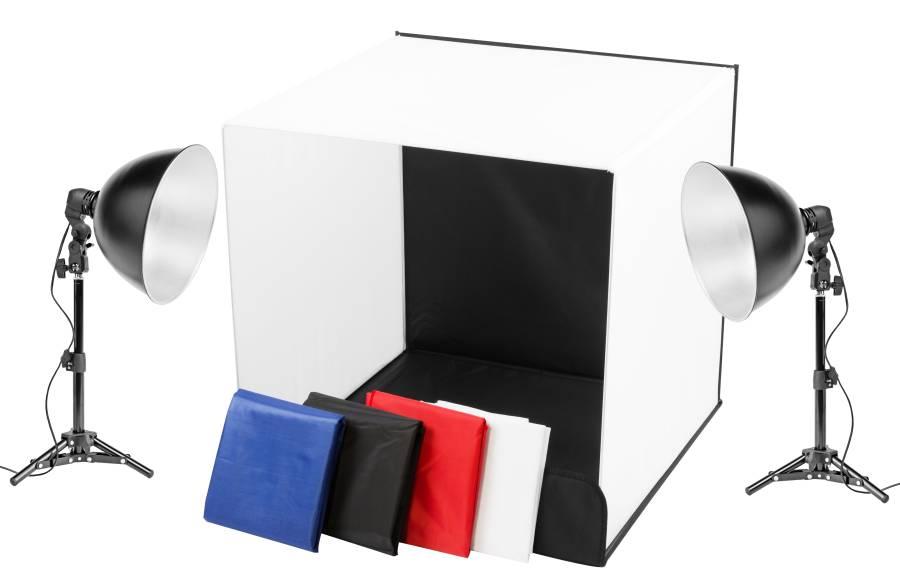 BRESSER Y-12 Mini Studio per la Fotografia del Prodotto 60x60x60cm (2 x 55W)