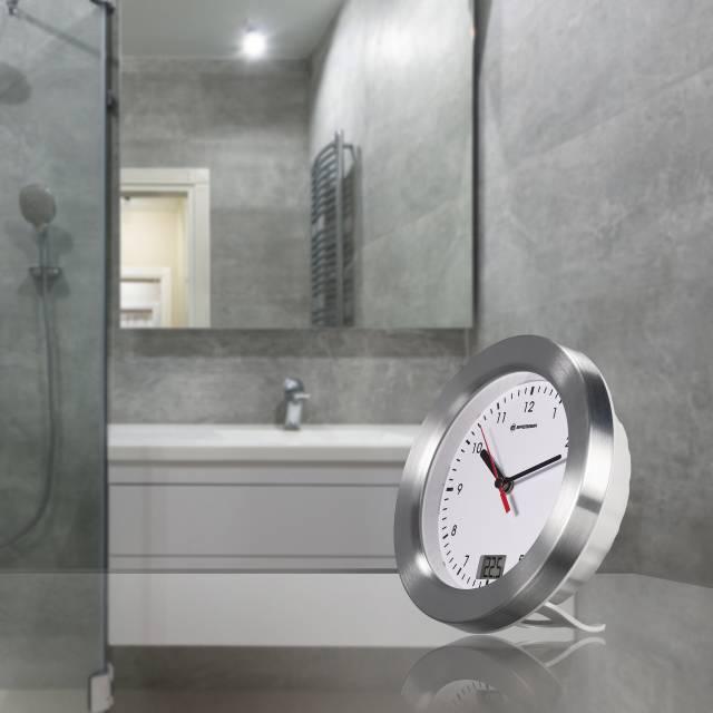 Bresser Mytime Bath Badkamerklok Wit Bresser