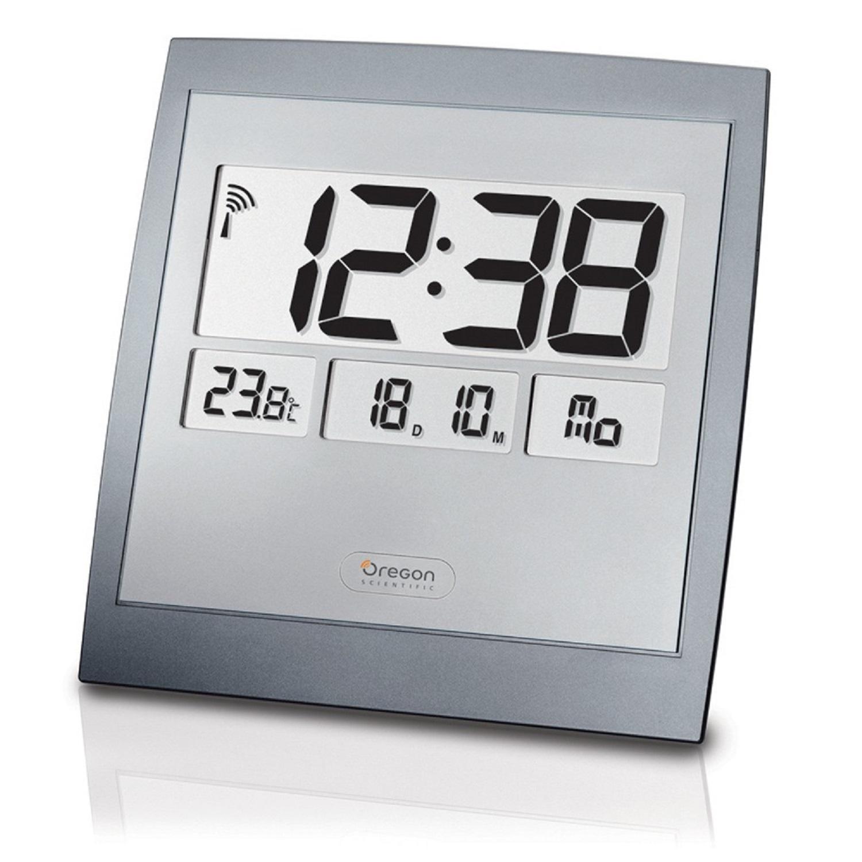 Oregon Scientific Jumbo Digitale Funkuhr Mit Eingebautem Thermometer