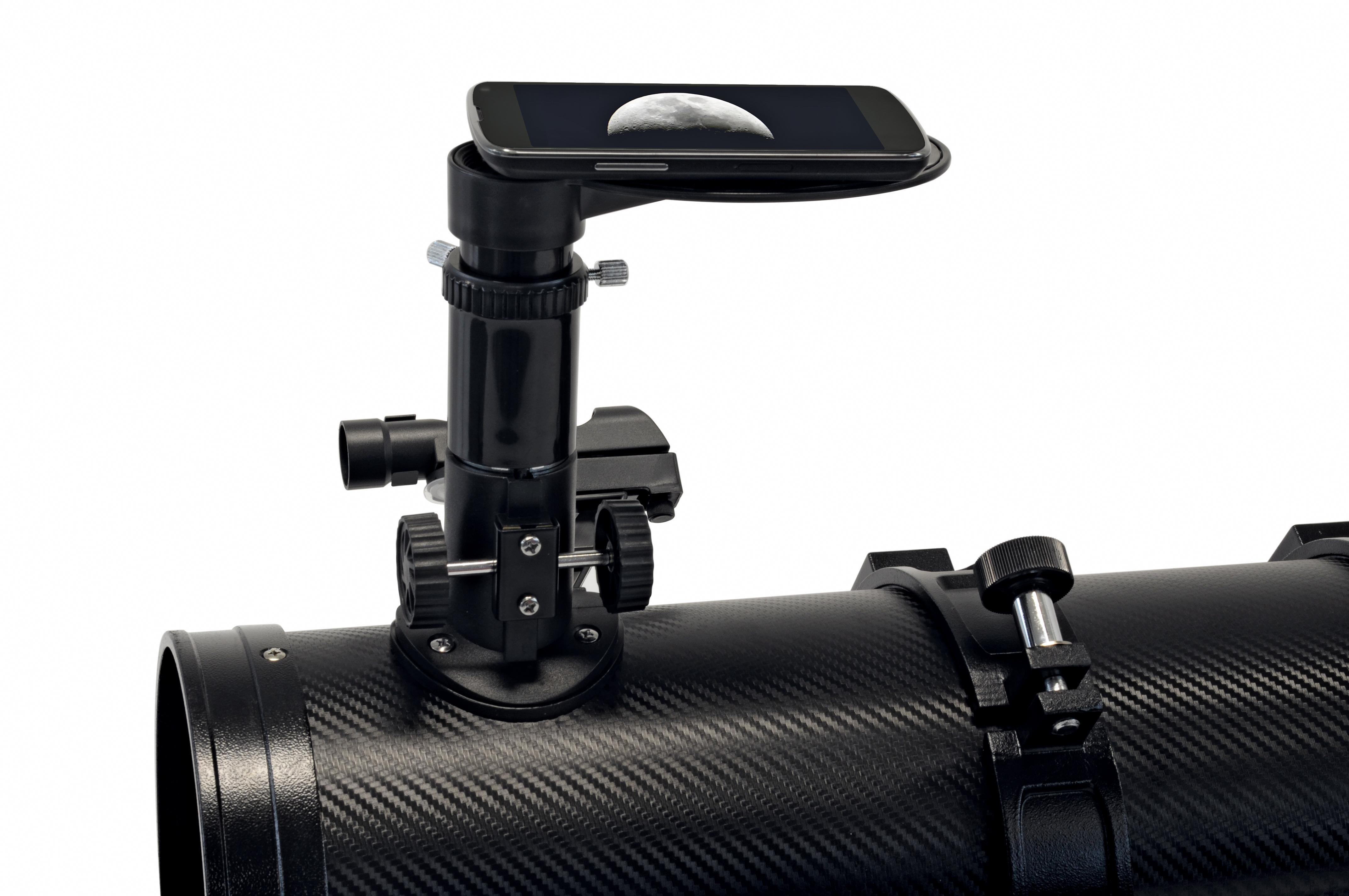 Bresser venus 76 700 az spiegelteleskop mit smartphone kamera