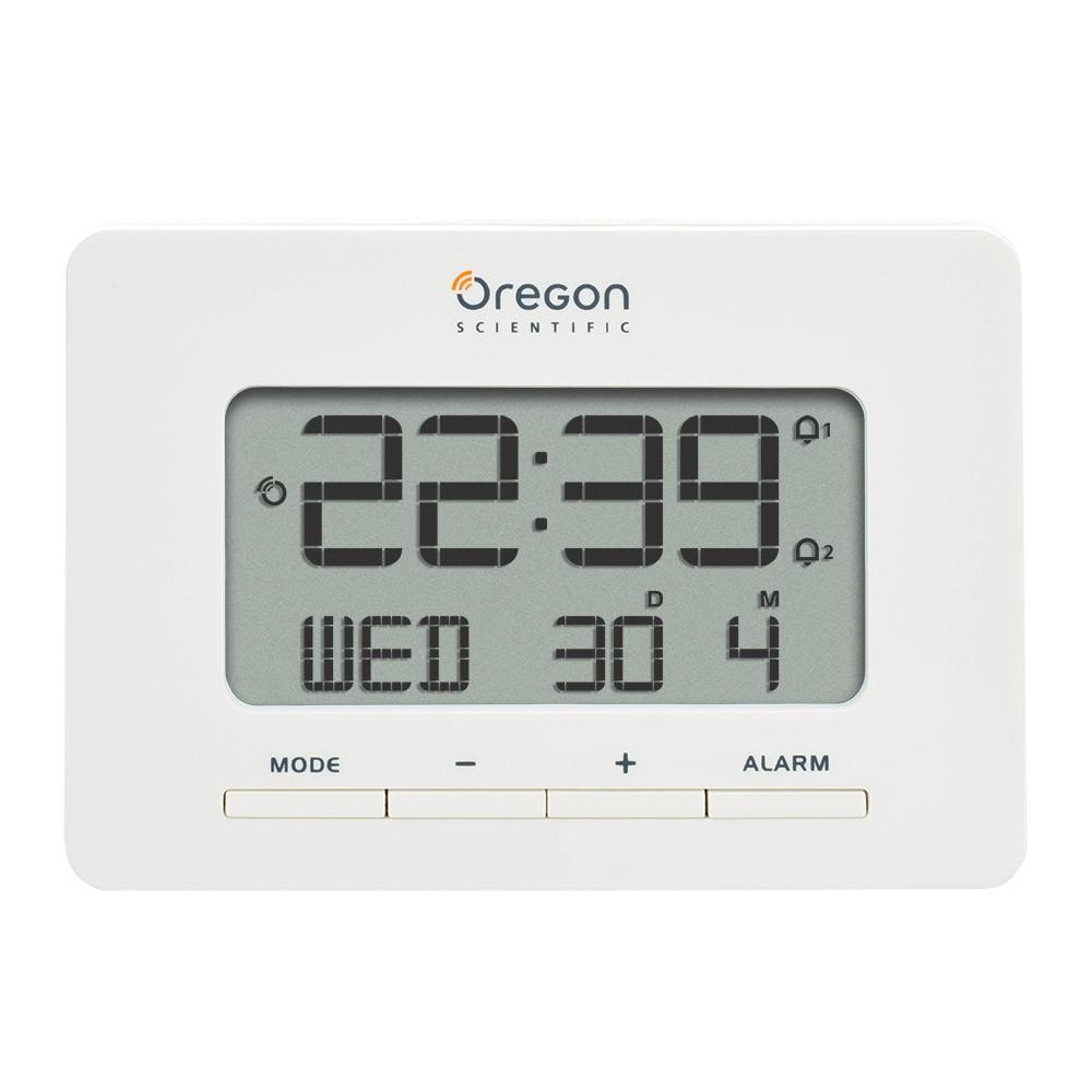 Oregon Scientific radio-controlled alarm clock white with Dual Alarm ... 778bb66dbcf7b