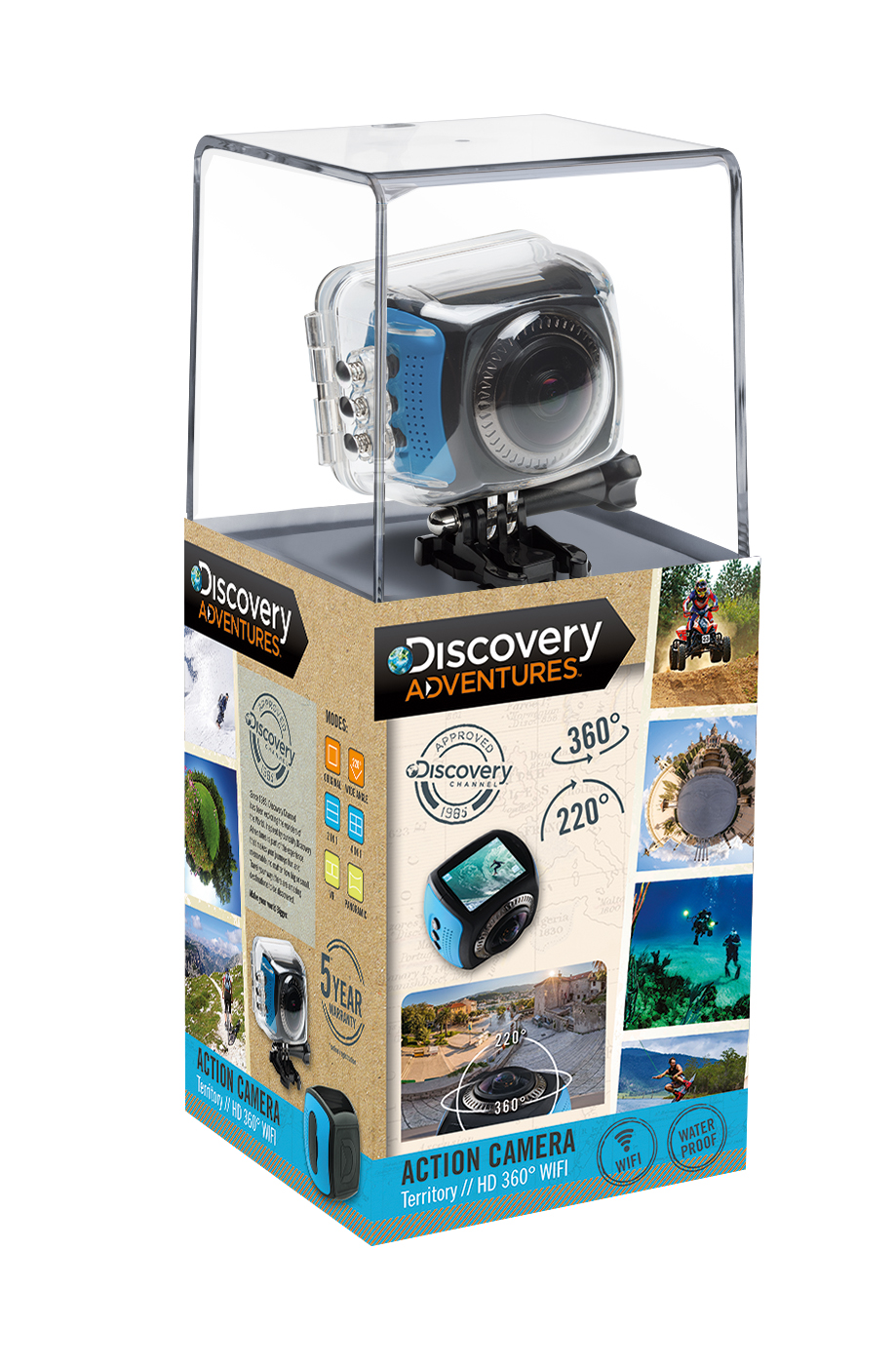 DISCOVERY ADVENTURES HD 720P 360° WIFI Action Camera Territory ...